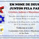 Convite: Em nome de Deus, juntos pela paz